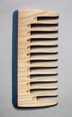 Lockenkamm, holz extra breit, 16 cm