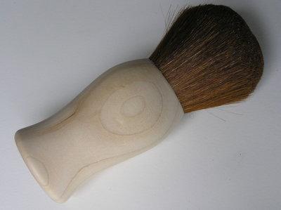 """""""Natur-Kabuki"""" Nekborstel van esdoorn met geitenhaar"""